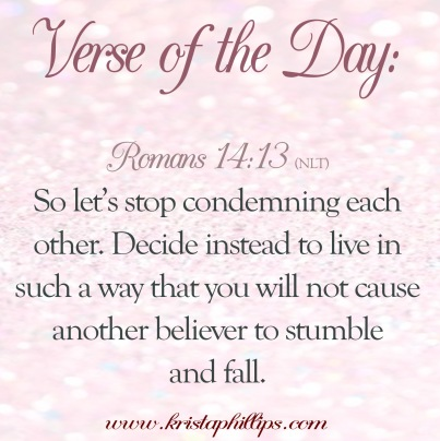 Image result for romans 14:13