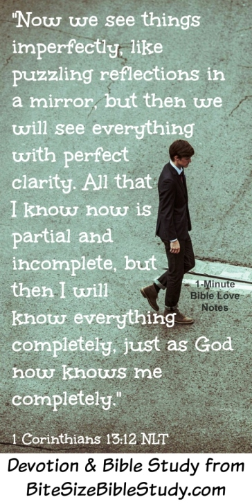 Image result for 1 Corinthians 13:12